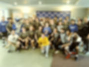 Goucher men's Lax with Max group photo.j