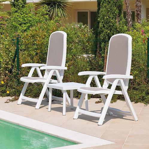 Cadeira reclinável branca/azul ou tortota  Delta