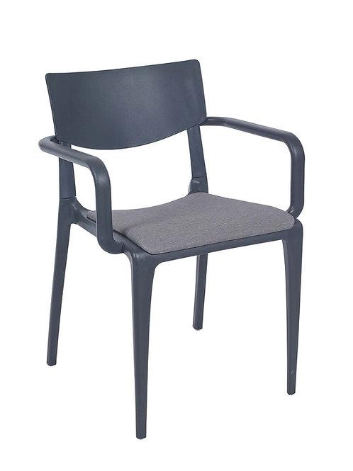 Cadeira Town White c Braços Pad MS-Tow10091X00/ 013S01Cinza