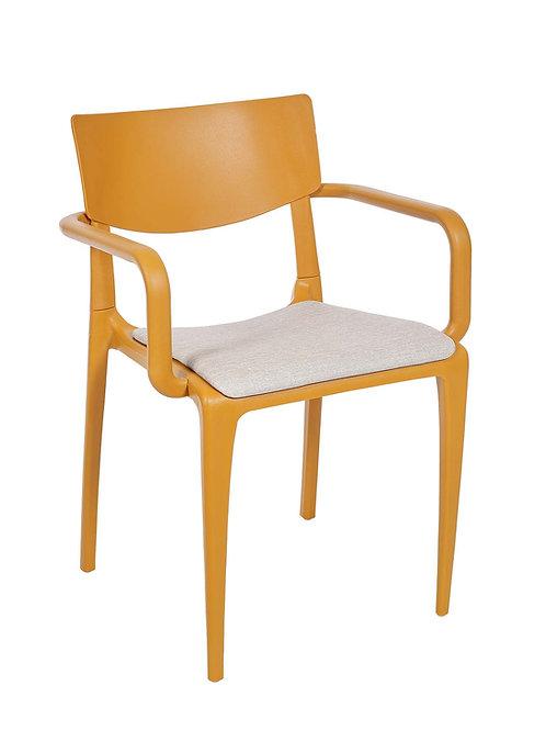 Cadeira Town Mostarda c Braços Pad MS-Tow10064X00/ 015S01 taupe