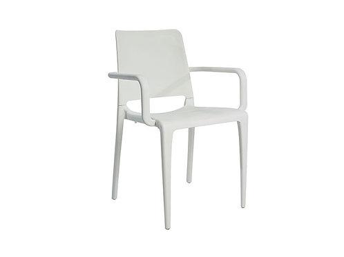 CadeiraHall Com braço Branca MN-HAL00010X00