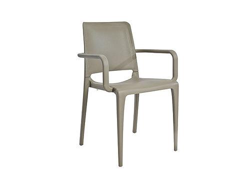 Cadeira Hall com Braços Taupe MN-HAL00024X00