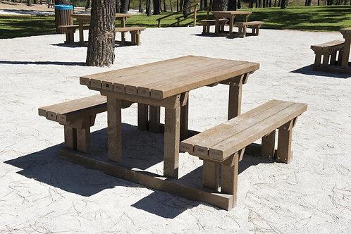 Mesa Rústica com bancos 150cm