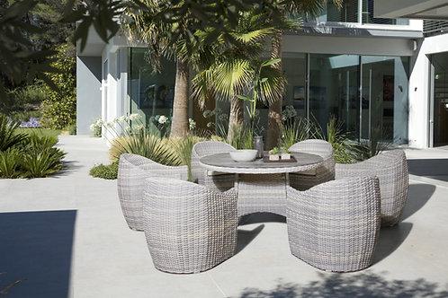 Conjunto Aurora Mesa de 135cm + 6 cadeiras
