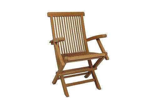 Cadeira Básica com braços teca
