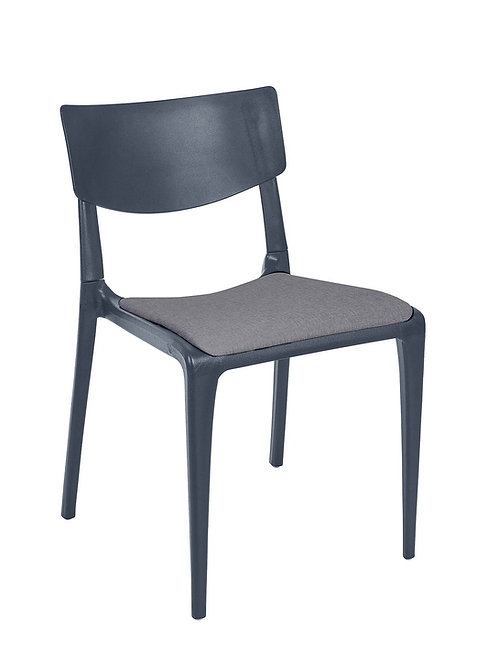 Cadeira Town Branca Pad MS-Tow10091X00/ 013S01 Cinza