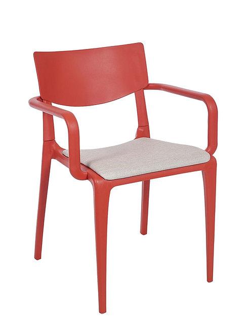 Cadeira Town Brick c Braços Pad MS-Tow10065X00/ 015S01taupe