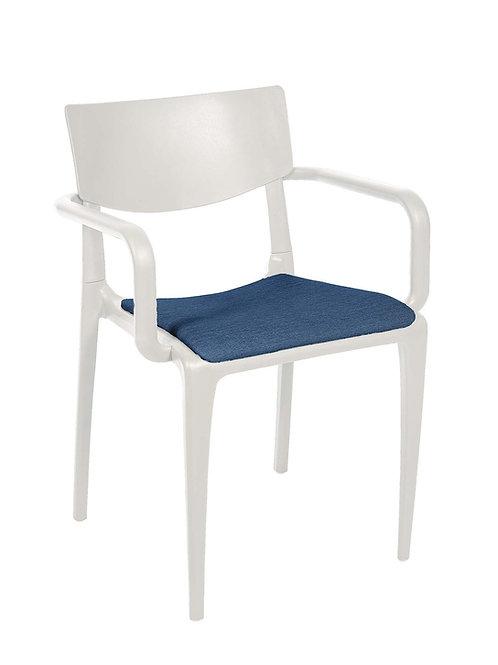 Cadeira Town White c Braços Pad MS-Tow10010X00/ 014S01Navi