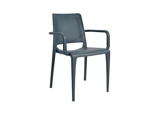 Cadeira Hall com Braços Antracite MN-HAL00091X00