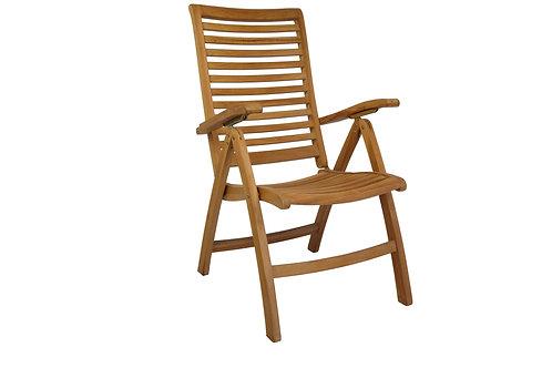 Cadeira Reclinável 4 posições Teca