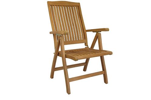 cadeira  reclinável teca