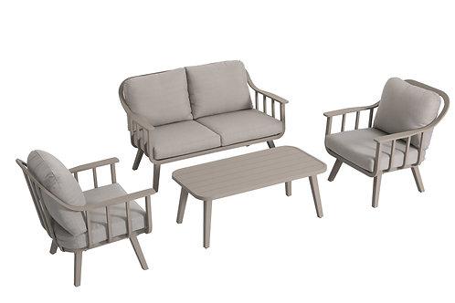 Conj. Chios a sofá 2 lug+2 de 1 lug+mesa