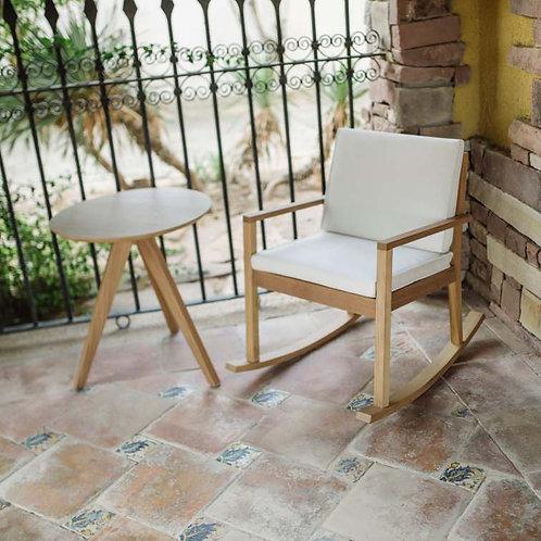 Cadeira Baloiço Macedora Iroko com couchins