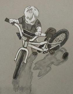 Riding the Bike
