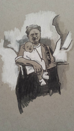 Woman and Infant