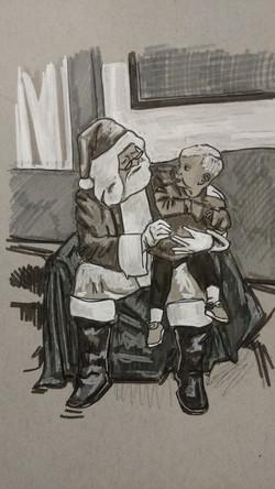 Little Boy with Santa