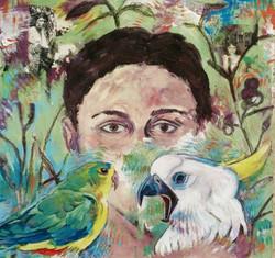 Self Portrait with Birds II