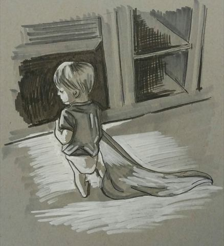 Little Boy with Blanket