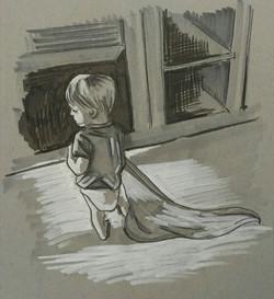 Little Boy with Blanket