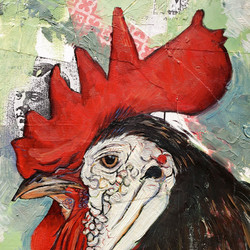 Rooster, detail, 2015