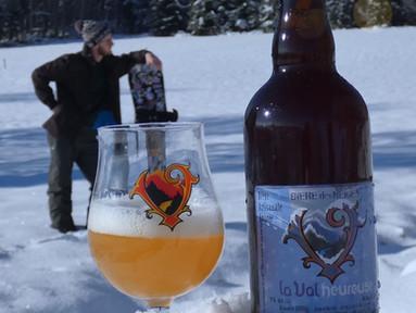 La bière des neiges, jusque sur les pistes...🍺🎿