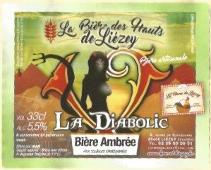 La bière des Hauts de Liézey, bière ambrée