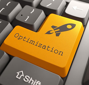 Orange Optimization Button on Computer K
