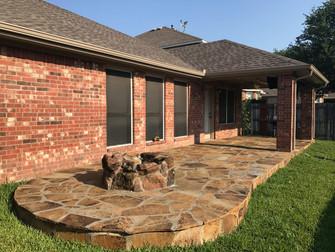 Stone Patio & Firepit in Keller, Texas
