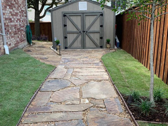 Stone Walkway to Dream Workshop