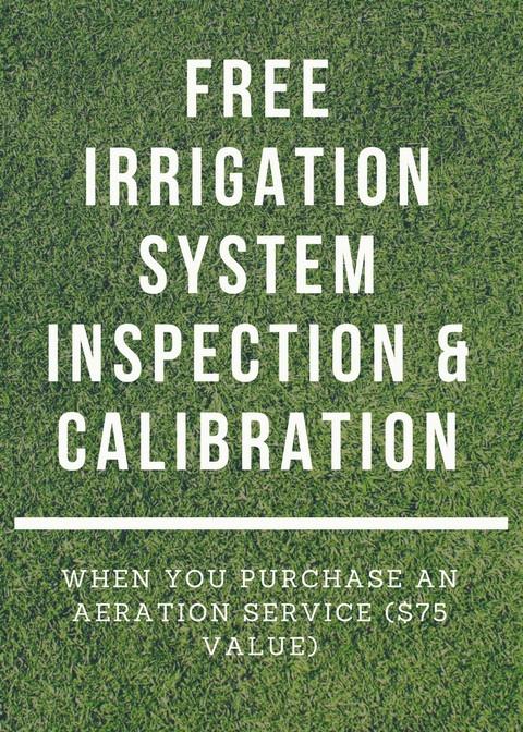 irrigation system inspection & calibration