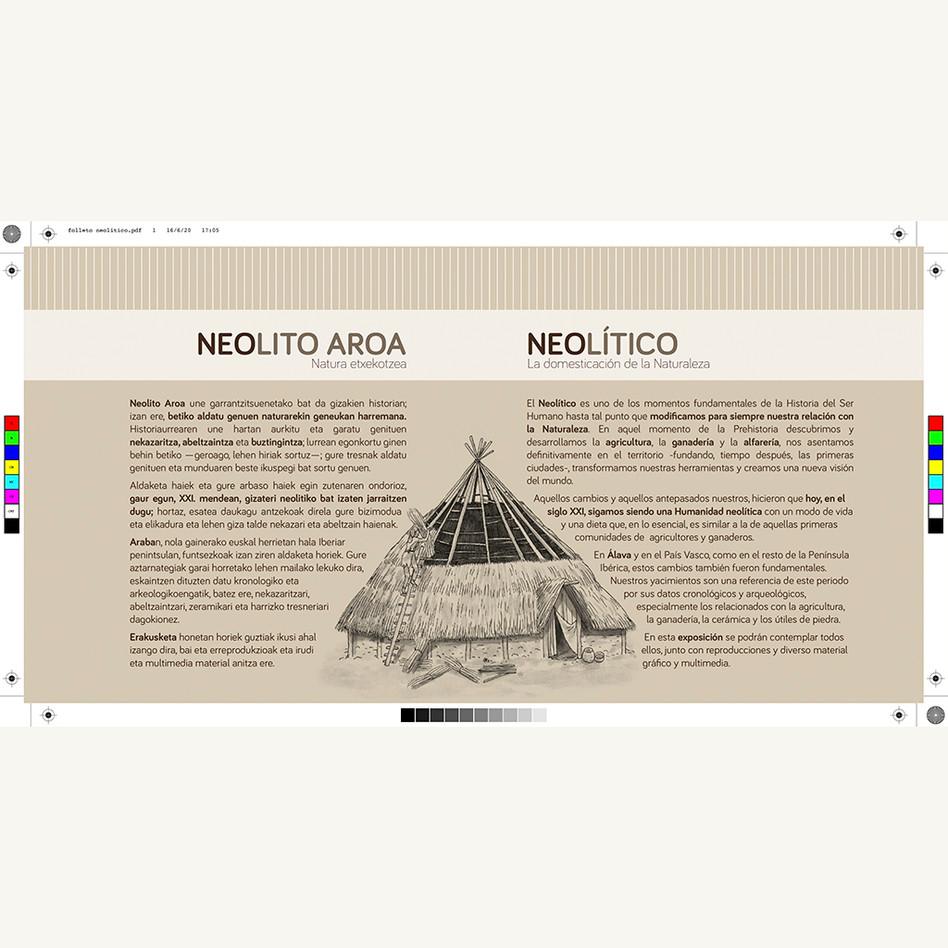 Folleto exposición neolítico imprenta. Bibat.