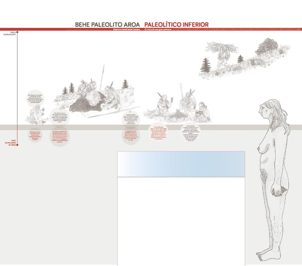 Detalle de propuesta de diseño panel neolítico inferior.