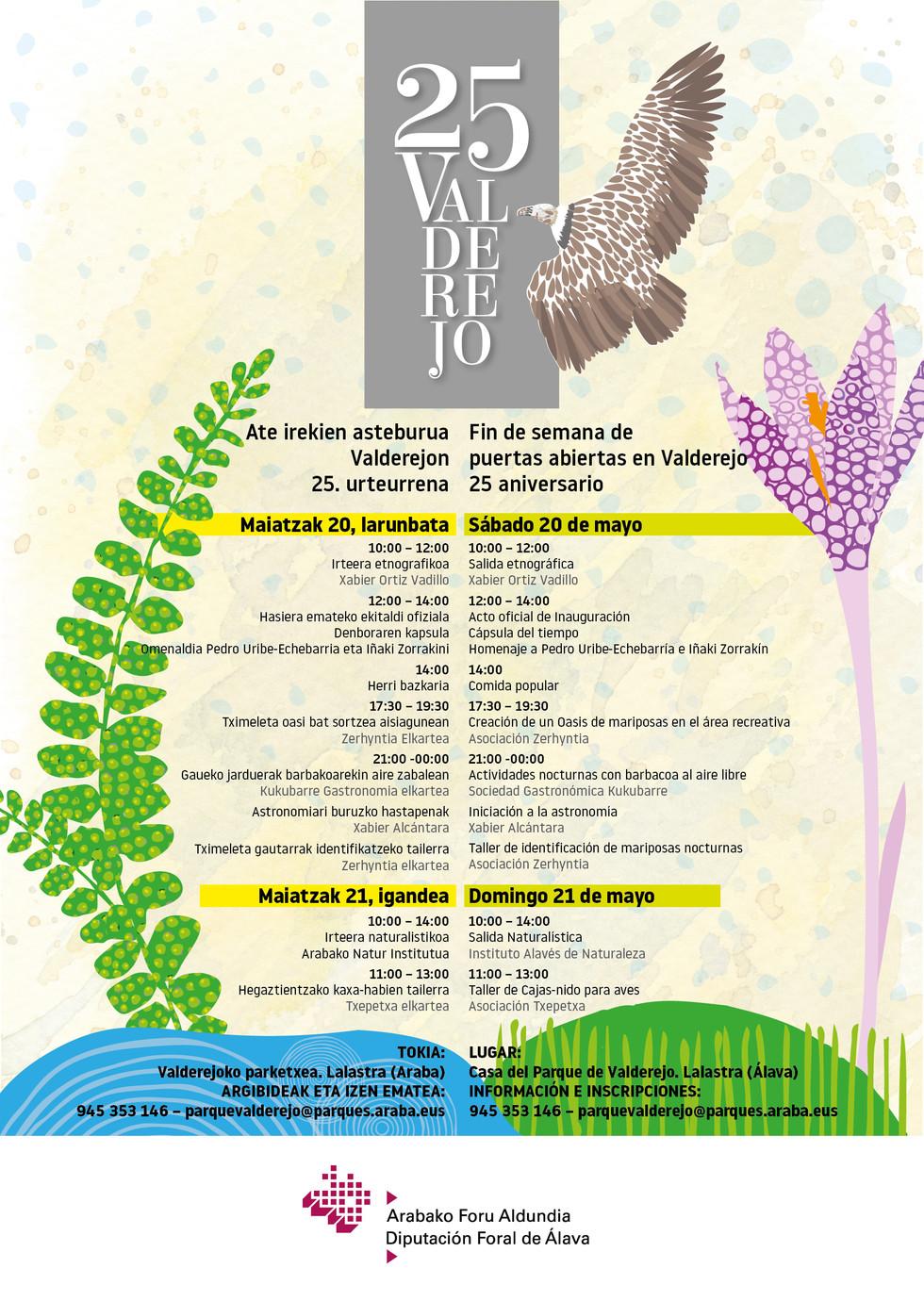 Cartel celebración 25 aniversario de Valderejo.