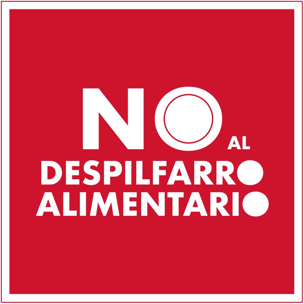 Logotipo No al despilfarro alimentario.