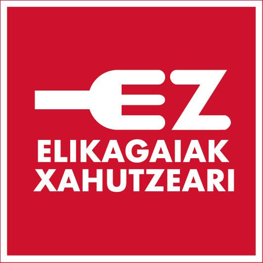 Logotipo en euskera No despilfarro alimentario