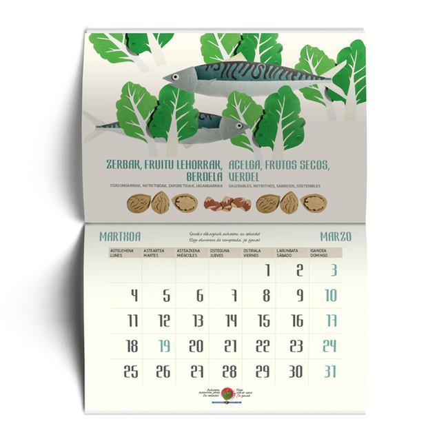 Diseño gráfico calendario alimentos de temporada_octubre