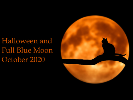 Halloween and Full Blue Moon October 2020