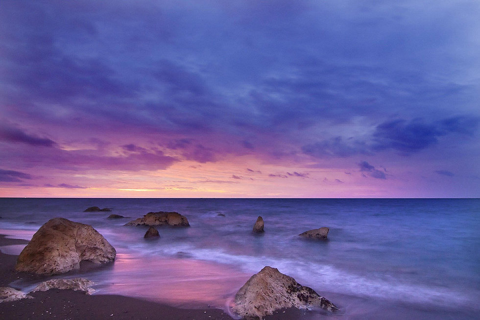 Background Ocean Beach with Rocks