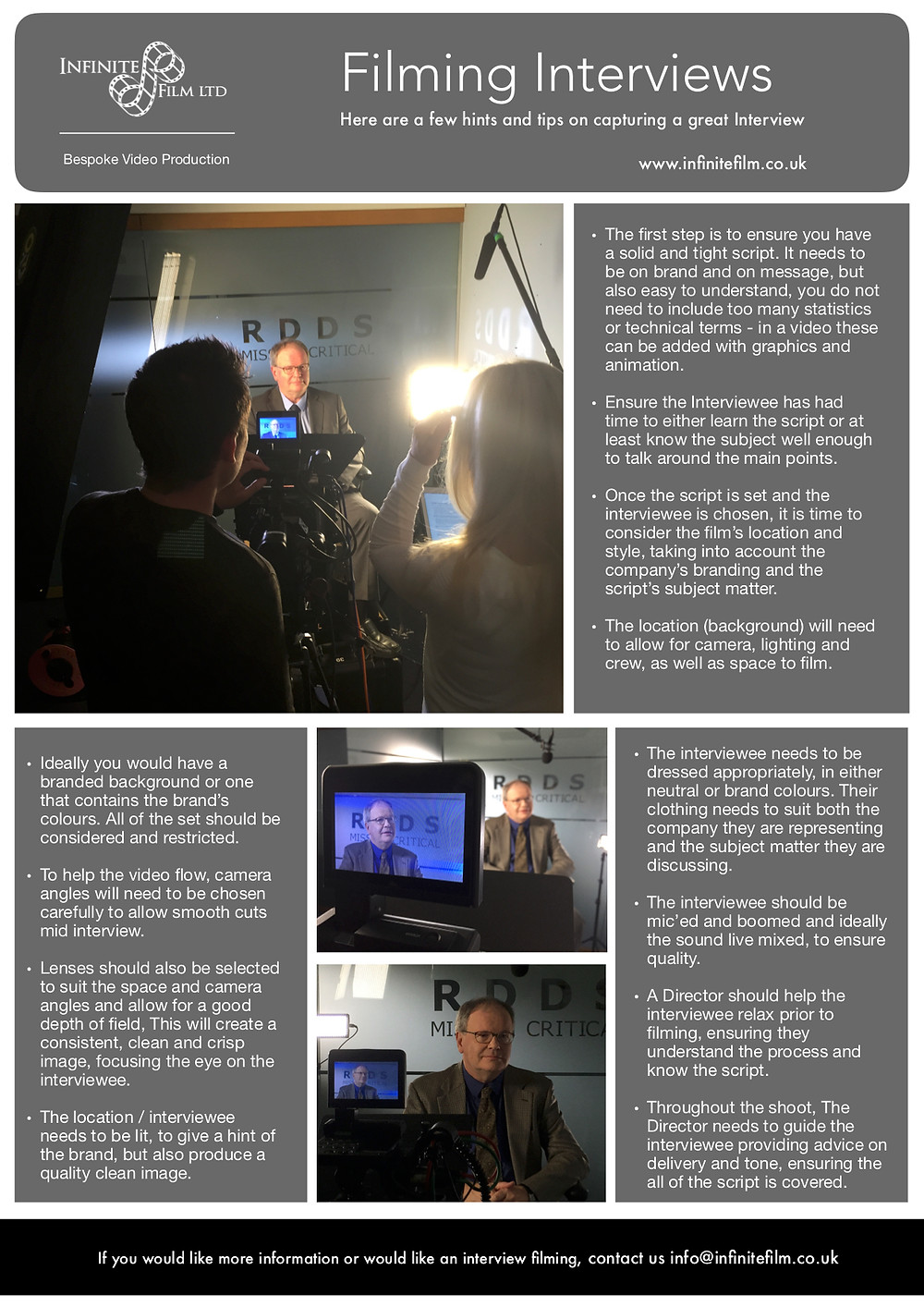 Top Tips for capturing a great Interview