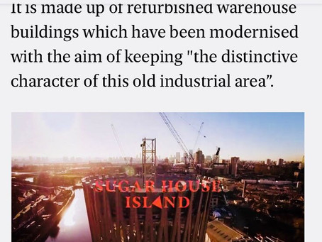 Vastint | Sugar House Island | Published in the Evening Standard