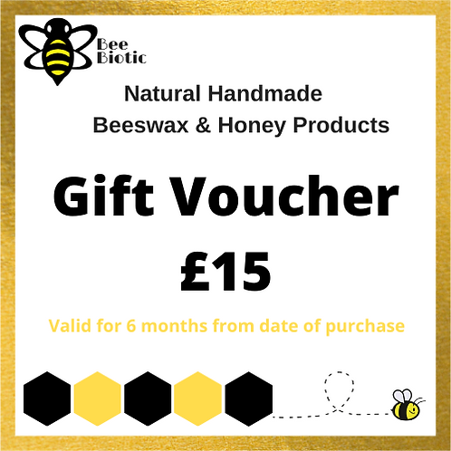copy of Bee Biotic £15 Gift Voucher (postal)