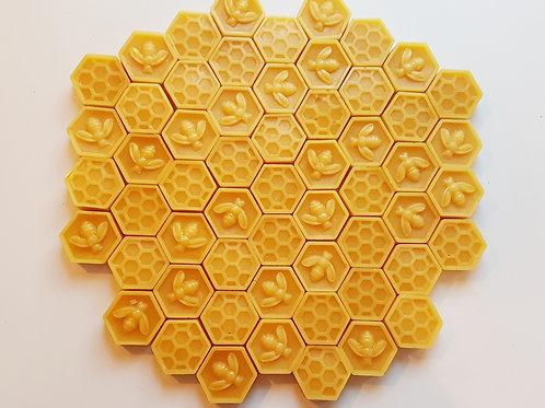 Natural Beeswax Hexagons