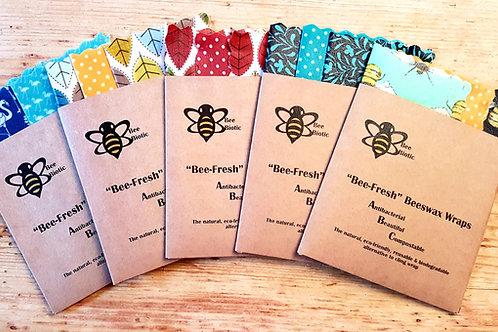 "Triple Pack  Small ""Baby Bee"" 17cm x 17cm Bee-Fresh Wraps-"