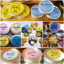 Beeswax skincare balms collage