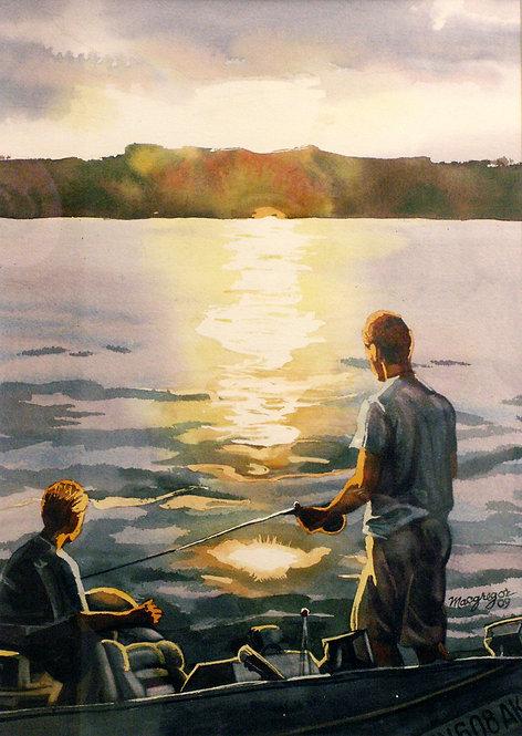 Boys on River  Original