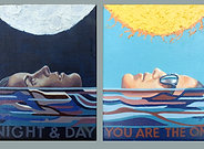 Night & Day dyptic  in 1 Giclee Print