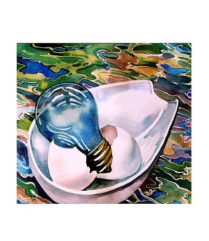 """Watercolor 10""""x10"""""""