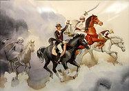 Four Horsemen  Watercolor
