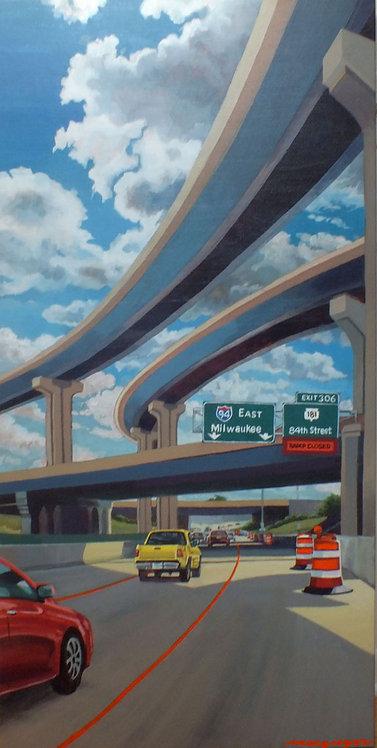 Zoo Interchange Acrylic on Canvas