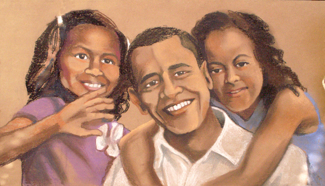President Obama & daughters